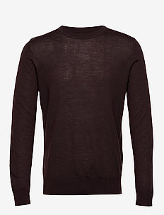 Flemming crew neck 3111 - CHOCOLATE TORTO