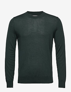 Flemming crew neck 3111 - basic knitwear - deep forest
