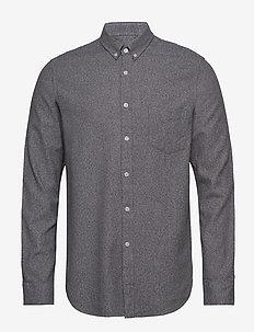 Liam BA shirt 11245 - basic skjorter - grey mel.