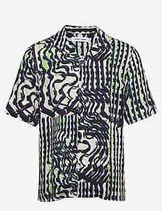 Oscar AX shirt aop 10527 - lyhythihaiset paidat - seismograph