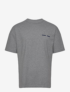 Toscan t-shirt 11415 - basis-t-skjorter - grey mel.