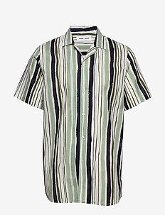 Einar SX shirt aop 11515 - FROSTY GREEN ST