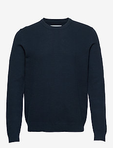 Falun crew neck 9987 - basic strik - night sky