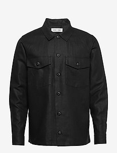 Luccas N shirt 11535 - basic-hemden - black