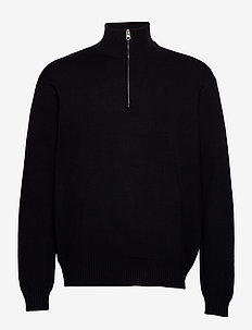 Guna turtle neck zip 10490 - half zip - black