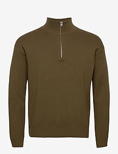 Guna turtle neck zip 10490 - half zip - dark olive