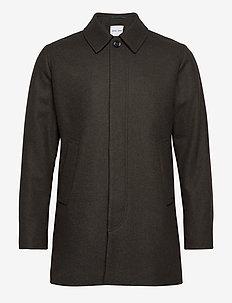 Kenpo x coat 12825 - wollmäntel - dark olive mel.