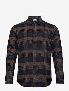 Liam NV shirt 12794 - oxford overhemden - cumin ch.