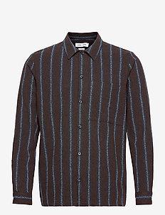 Taka JY shirt 12972 - ternede skjorter - black coffee st.