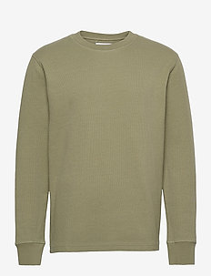 Chidi t-shirt ls 11597 - basic t-shirts - deep lichen green