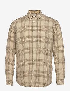 Liam NP shirt 14040 - rutiga skjortor - humus ch.