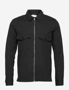 Kato zip shirt 14090 - kleding - black