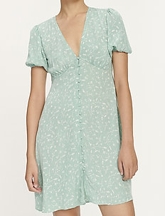 Petunia short dress aop 10056 - korta klänningar - feuilles menthe