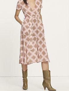 Klea long dress aop 6621 - omlottklänning - foulard