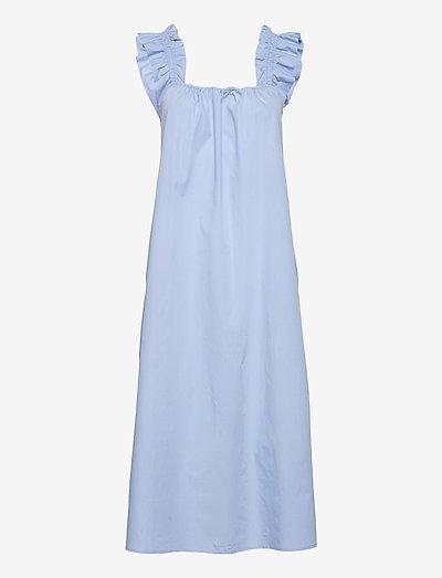 Gill dress 11466 - maxi dresses - brunnera blue