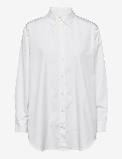 Haley shirt 11468 - denim shirts - white