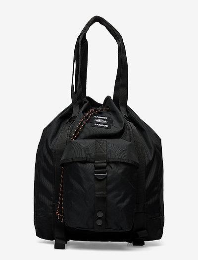 E Tote Bag 13052 - bucket bags - black