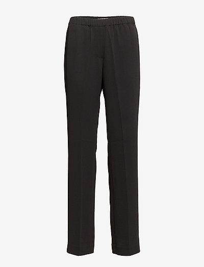 Hoys straight pants 7331 - bukser med lige ben - black
