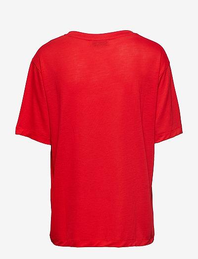 Samsøe Uta Ss 10172- T-shirty I Topy Flame Scarlet