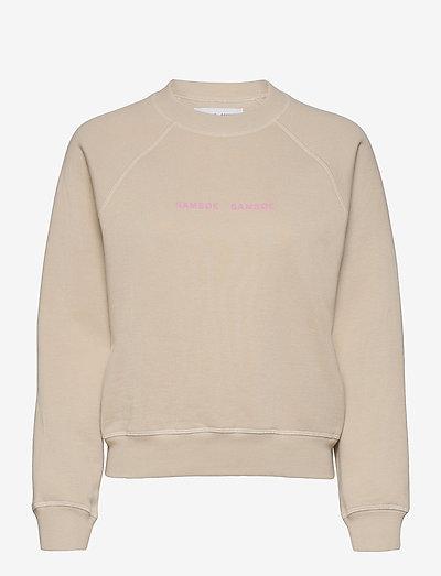 Barletta crew neck 10902 - sweatshirts en hoodies - brown rice