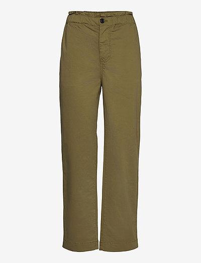 Tournon trousers 11303 - bukser med brede ben - air khaki