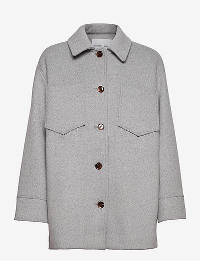 Dione overshirt 12847 - overshirts - grey mel.