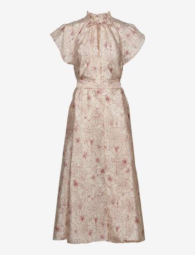 Karookh long dress aop 11244 - evening dresses - brick hortus