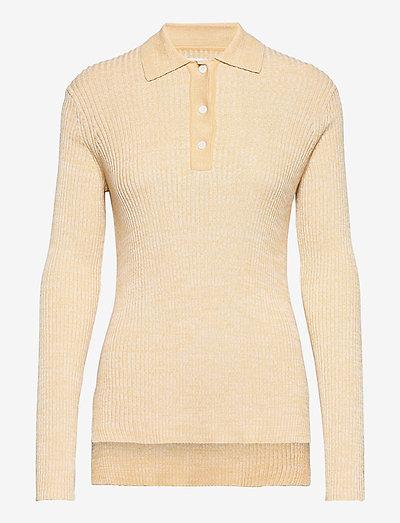 Bonnie polo 12933 - sweaters - eggnog mel.