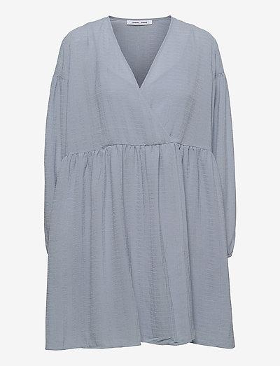 Jolie short dress 12697 - summer dresses - dusty blue