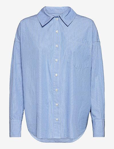 Arielle shirt 11466 - langærmede skjorter - dusty blue st.