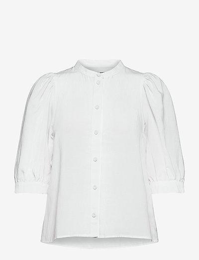 Mejse shirt 12771 - short-sleeved shirts - bright white