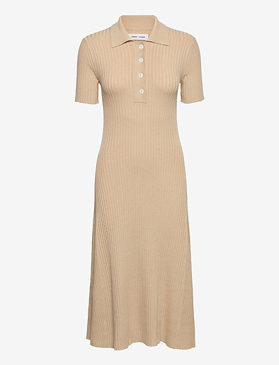 Lucy polo dress 13997 - strikkjoler - brown rice