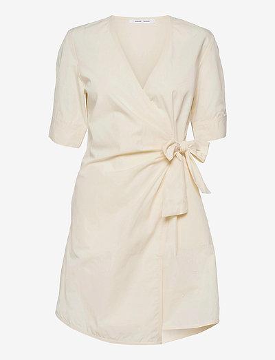 Althea ss short dress 11466 - midi dresses - antique white