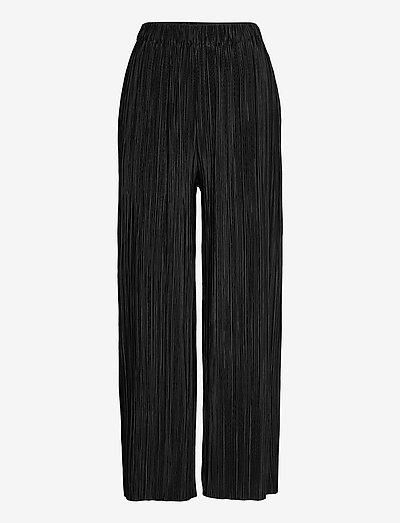 Uma trousers 10167 - straight leg hosen - black