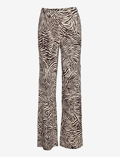 Lolly trousers aop 14122 - bukser med lige ben - choco zebra