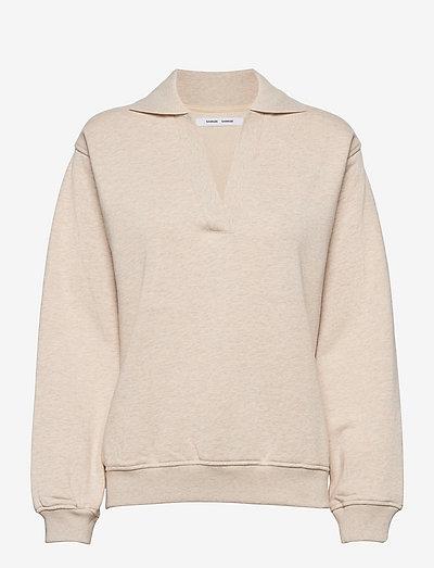Elli polo 14123 - sweatshirts & hættetrøjer - whisper white mel.