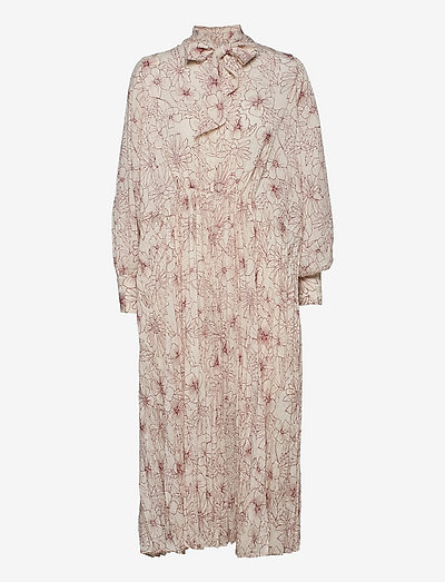Dorothe dress aop 14018 - summer dresses - brick hortus