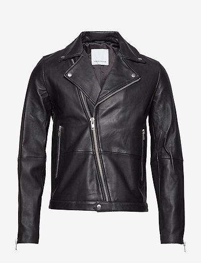 Spike jacket 7248 - leather jackets - black