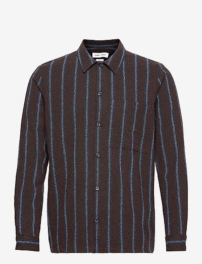 Taka JY shirt 12972 - rutiga skjortor - black coffee st.
