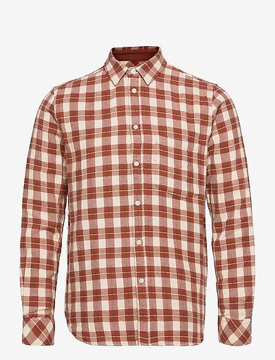 Liam NP shirt 12961 - jeansskjortor - brandy brown ch.