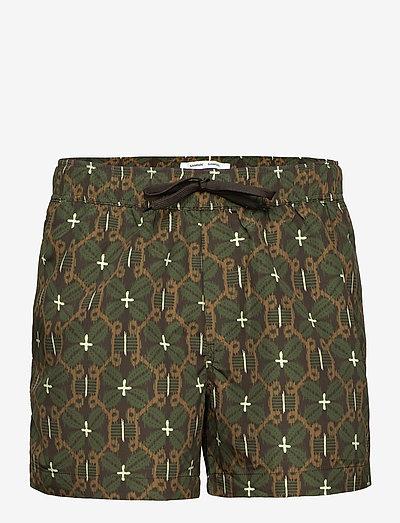 Mason swim shorts aop 13082 - shorts - chocolate salaba