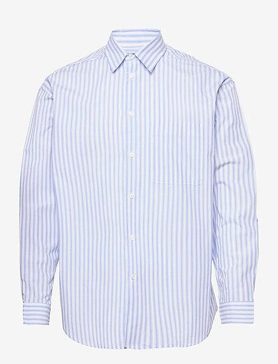 Luan J shirt 13072 - chemises de lin - dusty blue st.