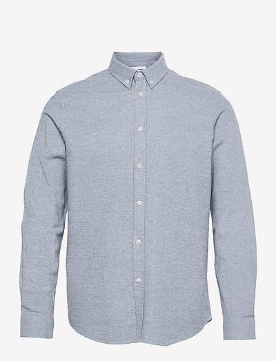 Liam BX shirt 14039 - linneskjortor - blue fog