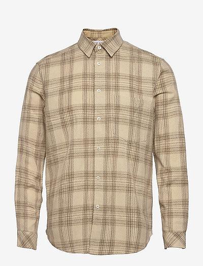 Liam NP shirt 14040 - koszule lniane - humus ch.