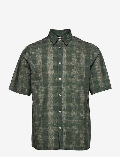 Taro NX shirt aop 14053 - rutiga skjortor - seagrass shibori