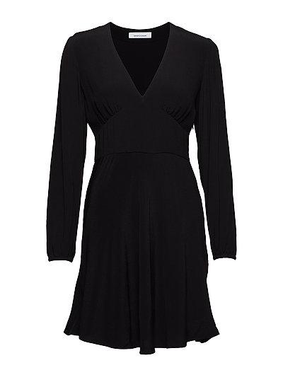 Cindy short dress ls 10056 - BLACK