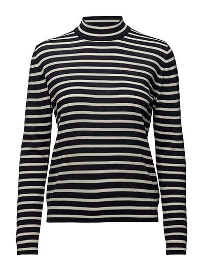 Sanella t-neck stripe 3111 - CREAMBLUE