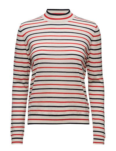 Sanella t-neck stripe 3111 - REDBLUE