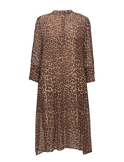 Elm shirt dress aop 9695 - LEOPARD