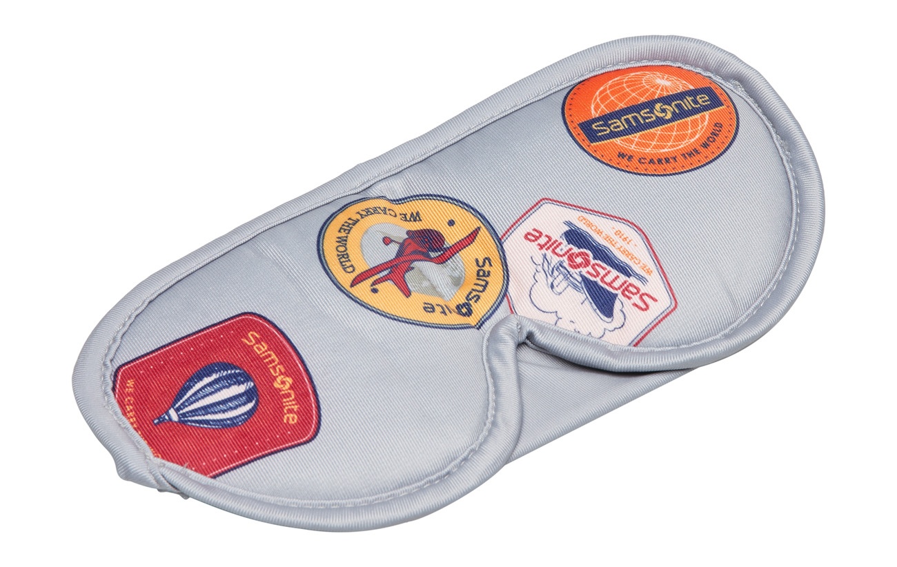 Samsonite Comfort Travelling Eye Mask And Earplugs - HERITAGE PATCHES